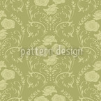 Rose Green Seamless Vector Pattern Design