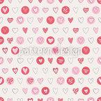 Herzen für Verliebte Nahtloses Vektormuster