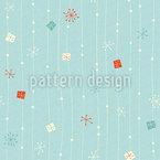 Schneeflocken auf der Leine Muster Design