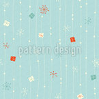 Snowflakes on the Line Seamless Vector Pattern Design