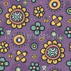 Flor Pop Design de padrão vetorial sem costura