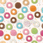 I Like Doughnuts Seamless Vector Pattern Design