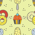 Sweet Tooth Seamless Vector Pattern Design