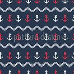 Anker und Wellen Musterdesign