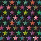 Angesagte Sterne Nahtloses Vektormuster