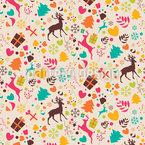Sonhando com o Natal Design de padrão vetorial sem costura
