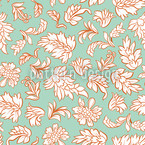Leafage Mint Seamless Vector Pattern Design