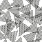 Triângulos de toque Design de padrão vetorial sem costura