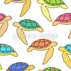 Sea Turtles Seamless Vector Pattern Design