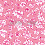 Leafage Rose Seamless Vector Pattern Design