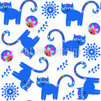 Fancy Cats Vector Ornament
