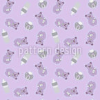Baby Bear Seamless Vector Pattern Design