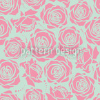 Rose Blossoms Stylized Seamless Vector Pattern Design