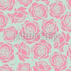 Rosenblüten Stilisiert Nahtloses Vektormuster