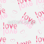 Turn Love Around Seamless Vector Pattern Design