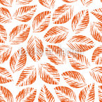 Grunge Leaves Seamless Vector Pattern