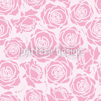 Rose Blossoms Lila Estampado Vectorial Sin Costura