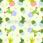 Cactus Mix Seamless Vector Pattern Design