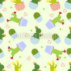Kaktus Mix Nahtloses Vektormuster