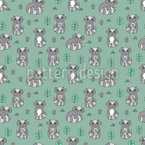 Cute Raccoons Pattern Design