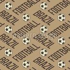 Fussball In Brasilien Vektor Ornament
