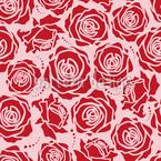 Rosenblüten Rosarot Nahtloses Vektormuster