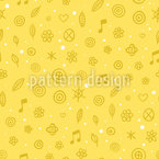 Garden Music Seamless Vector Pattern Design