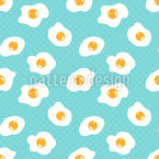 Huevos Fritos Estampado Vectorial Sin Costura