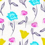 Aquarell Blumen Nahtloses Vektormuster