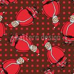 Dotty Santa Braun Nahtloses Muster