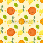 Lemons And Oranges Seamless Vector Pattern Design