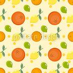 Zitronen und Orangen Nahtloses Vektormuster