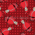 Dotty Santa Rot Seamless Vector Pattern