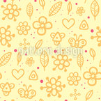 Childhood Summerdays Seamless Vector Pattern Design
