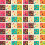 Christmas Patchwork Seamless Vector Pattern Design