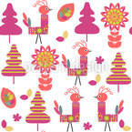 Birds In Paradise Repeating Pattern