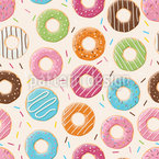 Party Donuts Vector Pattern