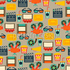 At The Cinema Seamless Vector Pattern Design