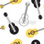 Akustische Gitarre Vektor Ornament