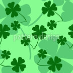 Irish Clover Seamless Vector Pattern Design