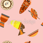 African Style Seamless Vector Pattern Design
