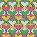 Heart Damask Seamless Vector Pattern Design