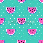 Watermelon Party Seamless Vector Pattern Design