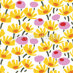 Graphical Blooms Seamless Vector Pattern Design