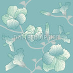 Pastel Hibiscus Seamless Vector Pattern Design