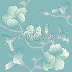 Pastell Hibiskus Muster Design