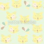 Glückliche Wildkatzen Vektor Design