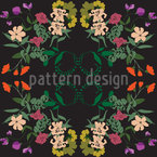 Splendid Flowers Seamless Vector Pattern Design