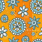 Doodle Floret Seamless Vector Pattern Design