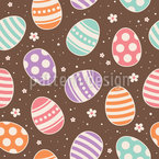 Cheerful Easter Eggs Seamless Vector Pattern Design